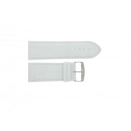 Pasek do zegarka Uniwersalny 305R.09 Skórzany Biały 30mm