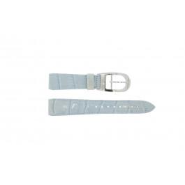 Pasek do zegarka WoW LEDER-BLAUW-18 Skórzany Niebieski 18mm