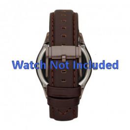Pasek do zegarka Fossil ME1123 Skórzany Ciemny brąz 22mm