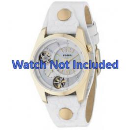 Pasek do zegarka Fossil ME1039 Skórzany Biały 18mm