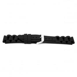 Pasek do zegarka Uniwersalny XF12 Krzem Czarny 18mm