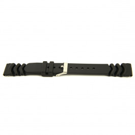 Pasek do zegarka Uniwersalny XG11 Plastikowy Czarny 20mm