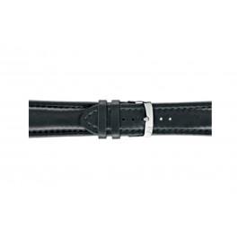 Morellato horlogeband Wide U4026A37019CR26 / PMU019WIDE26 Glad leder Zwart 26mm + standaard stiksel