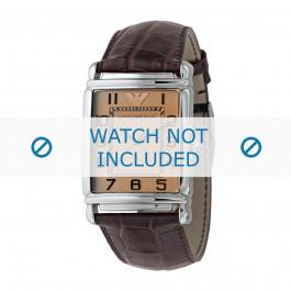 Pasek do zegarka Armani AR0403 Skórzany Brązowy 22mm