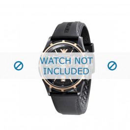 Pasek do zegarka Armani AR0584 / AR0595 Gumowy Czarny 23mm
