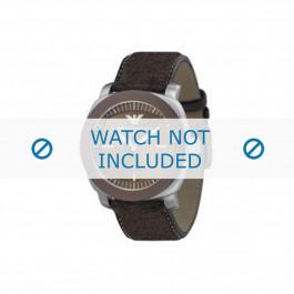 Pasek do zegarka Armani AR5819 Skórzany Brązowy