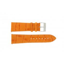 Pasek do zegarka Davis B0201 / 18 Skórzany Pomarańczowy 18mm