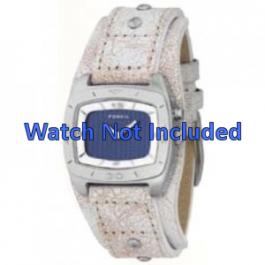 Pasek do zegarka Fossil BG2043 Skórzany Beżowy 20mm