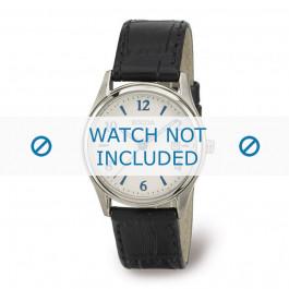 Boccia horlogeband 3199-01 Leder Zwart 16mm + zwart stiksel