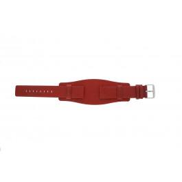 Pasek do zegarka Uniwersalny B0223 Skórzany Czerwony 20mm