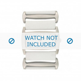 Pasek do zegarka Davis BB0755 Skórzany Biały 36mm