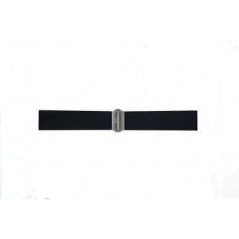 Pasek do zegarka Davis BB0881 Gumowy Czarny 22mm