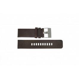Pasek do zegarka Diesel DZ1467 / Screw+Springbar Skórzany Brązowy 24mm