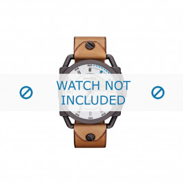 Diesel horlogeband DZ1576 Leder Bruin 24mm
