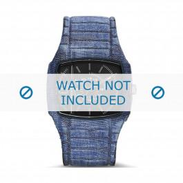 Diesel horlogeband DZ1669 Silicoon Blauw 28mm