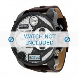 Pasek do zegarka Diesel DZ7126 Skórzany Ciemny brąz 28mm