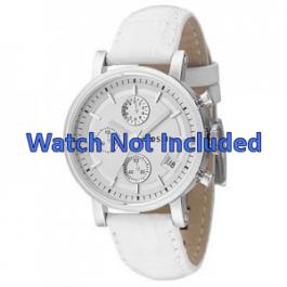 Pasek do zegarka Fossil ES2202 Skórzany Biały 18mm