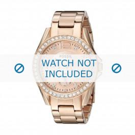 Pasek do zegarka Fossil ES2811 / 25XXXX Stal Róża 18mm