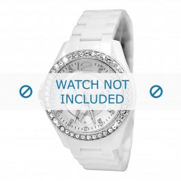 Fossil horlogeband ES3252 Kunststof / Plastic Wit 18mm