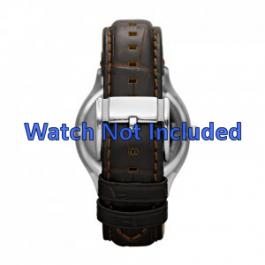 Pasek do zegarka Fossil FS4737 Skórzany Brązowy 22mm