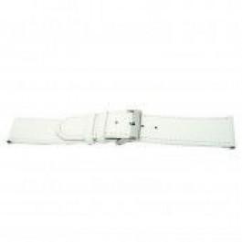 Pasek do zegarka Uniwersalny I505 Skórzany Biały 24mm