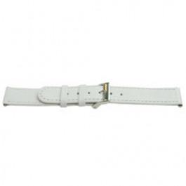 Pasek do zegarka Uniwersalny E500 Skórzany Biały 16mm