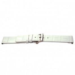 Pasek do zegarka Uniwersalny I520 Croco skóra Biały 24mm