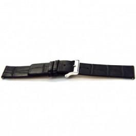 Pasek do zegarka Uniwersalny F145 Skórzany Czarny 18mm