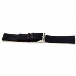 Pasek do zegarka Uniwersalny I105 Skórzany Czarny 24mm