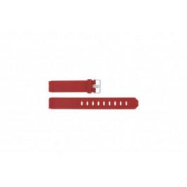 Pasek do zegarka Jacob Jensen 700 / 751 / 756 / 761 / 766 Gumowy Czerwony 17mm