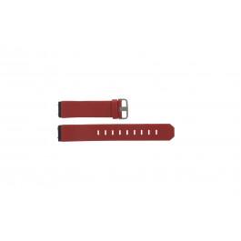 Pasek do zegarka Jacob Jensen 800 Series Skórzany Czerwony 17mm