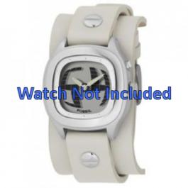 Pasek do zegarka Fossil JR8224 Skórzany Beżowy 16mm
