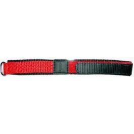 Pasek do zegarka Uniwersalny KLITTENBAND 412R Rzep Czerwony 20mm