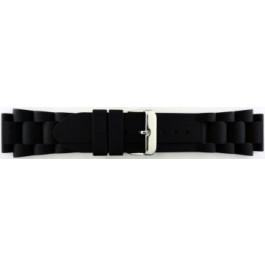 Pasek do zegarka Uniwersalny SL101 Krzem Czarny 20mm