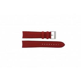 Nautica Pasek Do Zegarka A24515G Skóra Czerwony 22mm