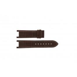 Pasek do zegarka Guess GC41501G / 145003G1 / I50001G1 Skórzany Ciemny brąz 12.8mm