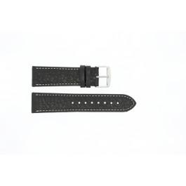 Pasek do zegarka Uniwersalny 307R.01 Skórzany Czarny 22mm