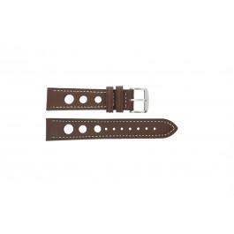 Pasek do zegarka Uniwersalny 682R.02 Skórzany Brązowy 18mm