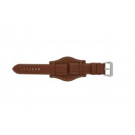Pasek do zegarka Uniwersalny 386.8 Skórzany Brązowy 22mm