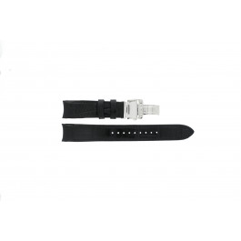 Pasek do zegarka Seiko 6R20-00A0 / SPB005J1 Skórzany Czarny 21mm