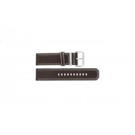Pasek do zegarka Seiko 7T62-0HM0 / SNAB71P1 / 4LP6JB Skórzany Brązowy 24mm