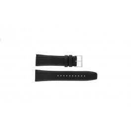 Pasek do zegarka Seiko 7T62-0HL0 / SNAB59P1 / 4LP4JB Skórzany Czarny 24mm