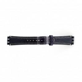 Pasek do zegarka Swatch (alt.) ES.IRON-2.05 Skórzany Niebieski 19mm