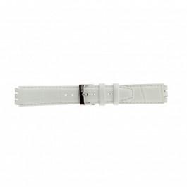 Pasek do zegarka Swatch (alt.) 21414.11 Skórzany Biały 17mm