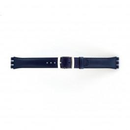 Pasek do zegarka Swatch (alt.) 51643.06.MB Skórzany Niebieski 19mm