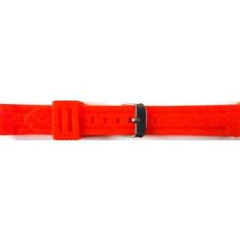 Pasek do zegarka Uniwersalny 253 Krzem Czerwony 24mm