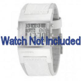 Pasek do zegarka Diesel DZ7043 Skórzany Biały 24mm