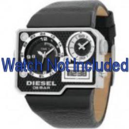 Pasek do zegarka Diesel DZ7101 Skórzany Czarny 39mm