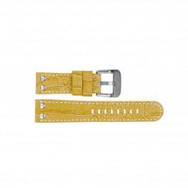 TW Steel horlogeband TWB34 Leder Beige 22mm + wit stiksel