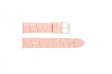 Pasek do zegarka Uniwersalny 285.14 Skórzany Różowy 20mm